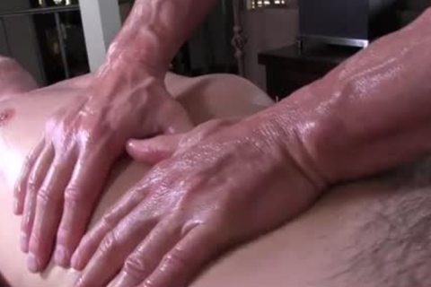GayRoom daddy masseur rubs and probes humongous shlong youngster - hardcore sex movie - Tube8.com