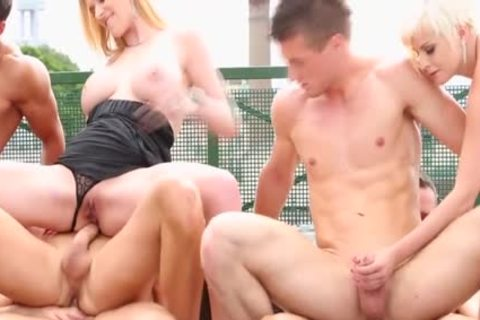 Steamy bisex fuckfest Outdoor