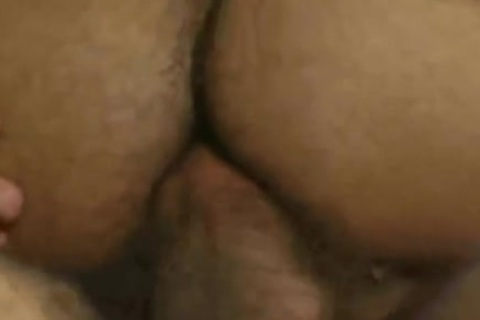 non-professional gay hairy chap pounding a fellow