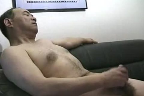 nice Looking handsome Japanese Daddy Single Action.  Jack Off