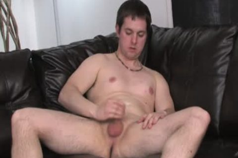 Shorthaired boy's Legs Are spread Open And His rod Is subrigid As A Rock