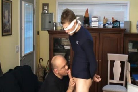 Straight Captive Lad, Fastened And Gagged, Made To semen